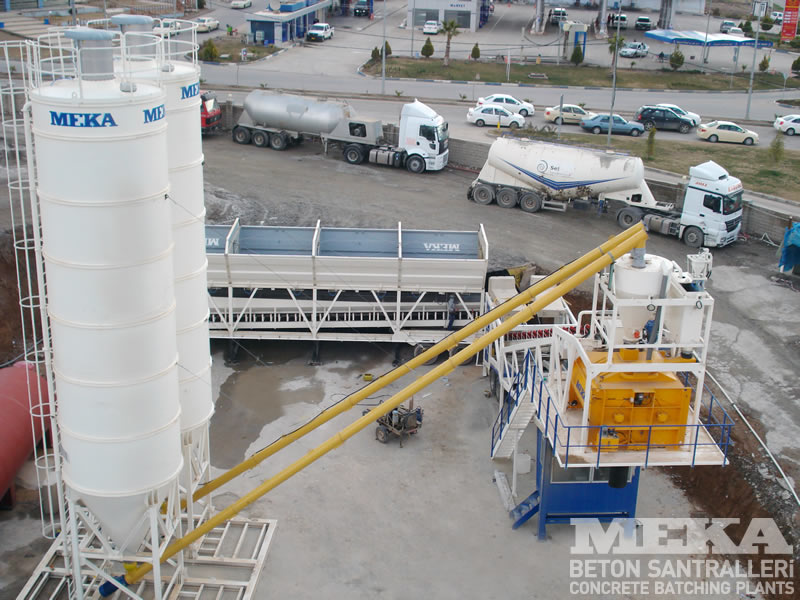 MB120BM mobile concrete plant 1